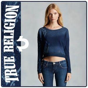 TRUE RELIGION Python Crop Sweatshirt